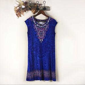 ☕️ 5/$20 Chico's Blue Midi Boho Dress